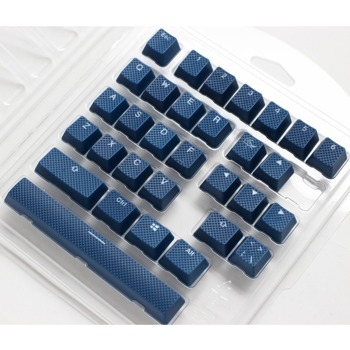 Капачки за механична клавиатура Ducky Navy 31-Keycap Set Rubber Backlit Double-Shot US Layout, син image