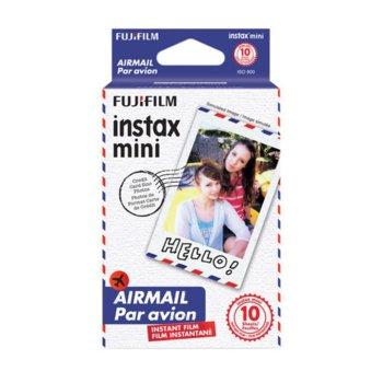 Фотохартия Fujifilm Airmail Instant Film, за Fujifilm Instax Mini, 800 ISO, 10 листа image