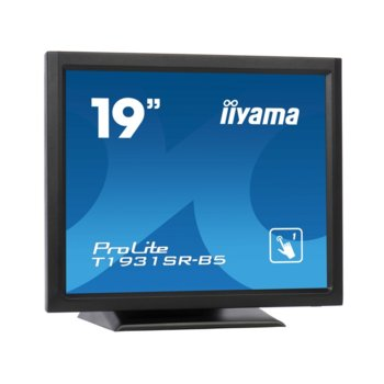 "Монитор Iiyama ProLite T1931SR-B5, 19"" (48.26 cm), TN панел, SXGA (1280x1024), 5ms, 1000:1, 200cd/m2, DP, HDMI, VGA image"