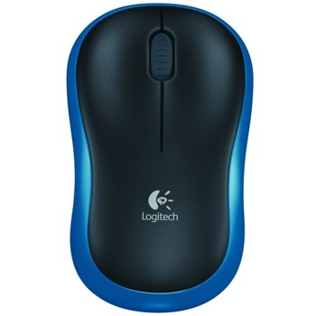 Мишка Logitech M185, оптична (1000 dpi), безжична, USB, синя image