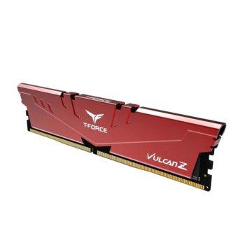 Памет 4GB DDR4, 3000MHz, Team Group T-Force Vulcan Z, TLZRD44G3000HC16C01, 1.35V, червена  image