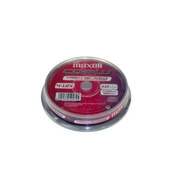 Оптичен носител CDRW media 700MB, Maxell, 10 бр. image