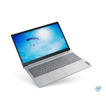 "Лаптоп Lenovo ThinkBook 15-IIL (20SM003SBM_5WS0A23781)(сив), двуядрен Ice Lake Intel Core i3-1005G1 1.2/3.4 GHz, 15.6"" (39.62 cm) Full HD IPS Anti-glare Display, (HDMI), 8GB DDR4, 256GB SSD, 1x USB 3.1 Type-C, Free DOS image"