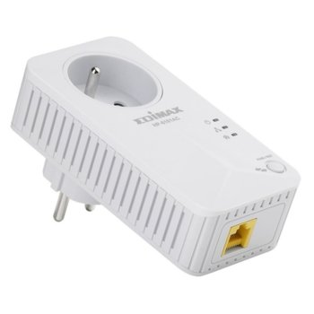 Powerline адаптер Edimax HP-6101ACK, 600 Mbps, до 300м обхват, 1x 10/100 Mbps Ethernet image