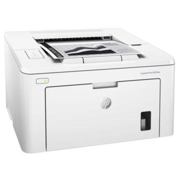 Лазерен принтер HP LaserJet Pro M203dw, монохромен, 1200 x 1200 dpi, 28 стр/мин, Lan 100, Wi-Fi 802.11n, USB, A4, двустранен печат image