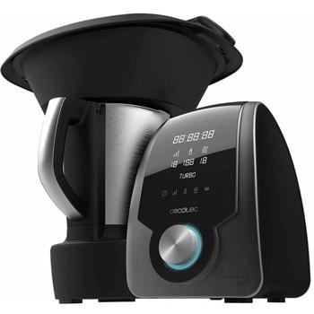 Кухненски робот Cecotec Mambo 7090, 1700W, 10 скорости, 3.3L капацитет, 30 функции, цифров дисплей с сензорен панел, система за проверка на сигурността, черен image