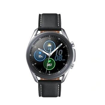 "Смарт часовник Samsung Galaxy Watch3, 45 mm, 1.2"" (30.2mm) Super AMOLED дисплей, Bluetooth, 1GB RAM, 8GB ROM, до 43 часа време на работа, сребрист image"