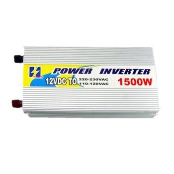 Инвертор YH-61500, 1500W, от DC 12V към AC 220V, за кола image