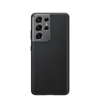 Калъф за Samsung Galaxy S21 Ultra, естествена кожа, Samsung Leather Cover EF-VG998LBEGWW, черен image