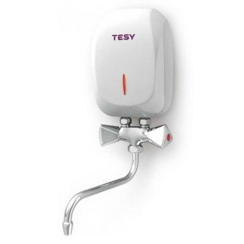 Eлектрически бойлер Tesy IWH 50 X02 KI, проточен, вертикален, 5kW, енергиен клас А, 20.0 x 13.0 x 7.6 cm image