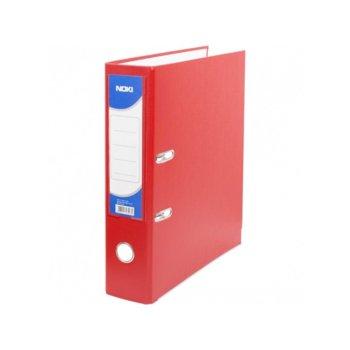 Класьор Noki, за документи с формат до А4, дебелина 5см, с метален кант, червен image