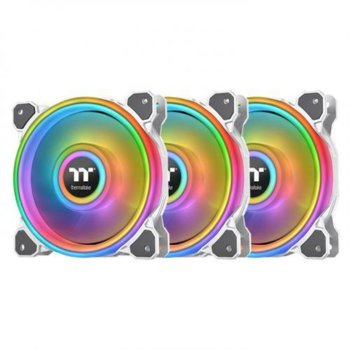 Вентилатор 120mm Thermaltake Riing Quad 12 TT Premium Edition (CL-F100-PL12SW-A), USB 2.0, 1500rpm, RGB подсветка, 3бр image