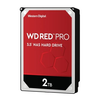 """Твърд диск 2TB WD Red Pro, SATA 6Gb/s, 7200 rpm, 64MB, 3.5""""(8.89 cm) image"""