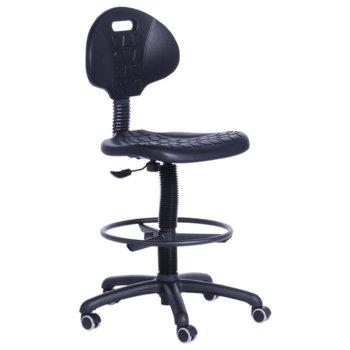 Работен стол Partner, дамаска, полипропиленова база, газов амортисьор, черен image
