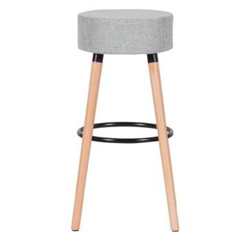 Бар стол Carmen 4025, до 100кг, дамаска, дървена база, сив image