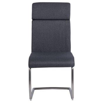 Трапезен стол Carmen Platinum, дамаска, сив image
