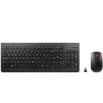 Комплект клавиатура и мишка Lenovo 510, безжични, оптична мишка (1200 dpi), USB, 2.4 GHz, черни image