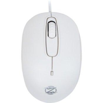 Мишка ZornWee S122, оптична (1000dpi), USB, бяла image