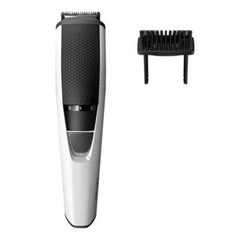 Тример Philips Series 3000 BT3206/14, 1 мм прецизни настройки, ножчета от неръждаема стомана, 45 мин. безжична работа/10 ч. зареждане, черна/бяла image