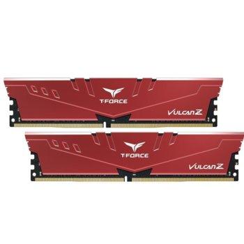 Памет 16GB (2 x 8GB) DDR4, 3000MHz, Team Group T-Force Vulcan Z TLZRD416G3000HC16CDC01, 1.35V, червени  image