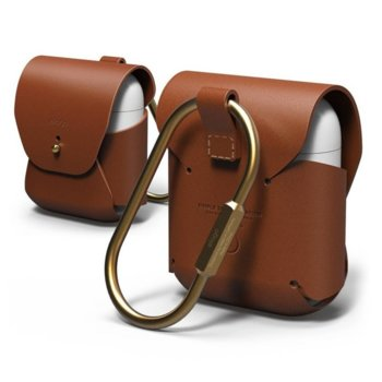 Калъф за слушалки Elago Leather Case EAPLE-BR, за Apple AirPods, кожен, кафяв image