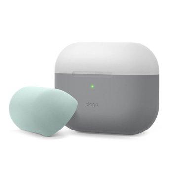 Калъф за слушалки Elago Duo Silicone EAPPDO-TRDG-LGMT, за Apple AirPods Pro, силиконов, сив-светлосив image