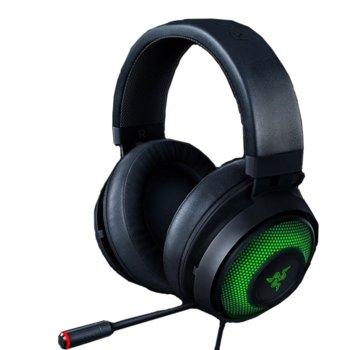 Слушалки Razer Kraken Ultimate (RZ04-03180100-R3M1), USB, Active Noise Canceling микрофон, гейминг, 7.1 Virtual Surround, подсветка, черни image