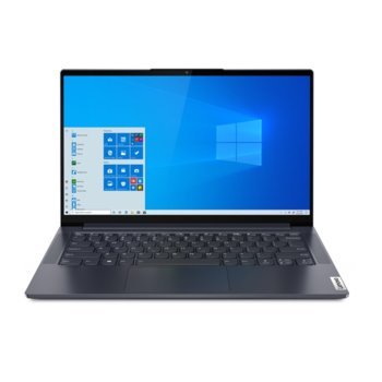 "Лаптоп Lenovo Yoga Slim 7 14ITL05 (82A30080BM)(сив), четириядрен Tiger Lake Intel Core i5-1135G7 4.20 GHz, 14"" (35.56 cm) Full HD IPS Anti-Glare Display, (HDMI), 16GB DDR4, 1TB SSD, 1x USB-C, Windows 10 Home image"