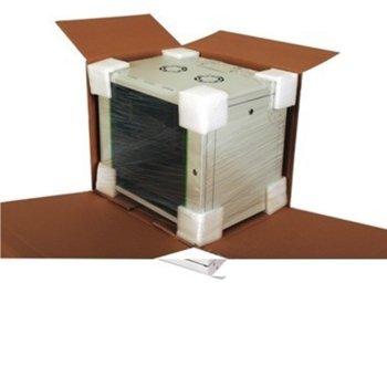 "Комуникационен шкаф Lande LN-PR20U6060-LG, 19"", 20U, 600x600mm, стъклена врата, светло сив image"