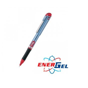 Ролер Pentel Energel BLN15, червен цвят на писане, дебелина на линията 0.7 mm, гел, син, цената е за 1бр. (продава се в опаковка от 12бр.) image