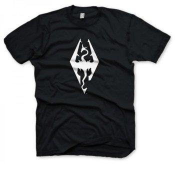 Тениска Gaya Entertainment The Elder Scrolls V: Skyrim Dragon symbol, размер XL, черна image