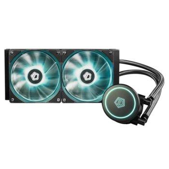 Водно охлаждане ID-Cooling Auraflow X 240, съвместимост със Intel LGA2011/1151/1150/1155/1156/1366/775 & AMD AM3/AM3+/AM2/AM2+/FM2/FM2+/FM1 image