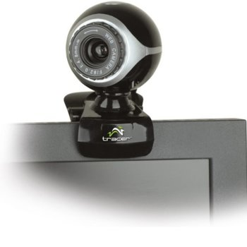 Уеб камера Tracer PC GAMMA CAM TRAKAM42939, 0.3 MP (640x480/30 Fps), USB, черна image