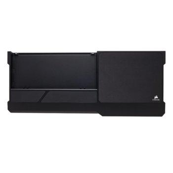 Подложка за клавиатура и мишка Corsair K63 Wireless Lapboard, мемори пяна, сменяема подложка за мишка, черна image