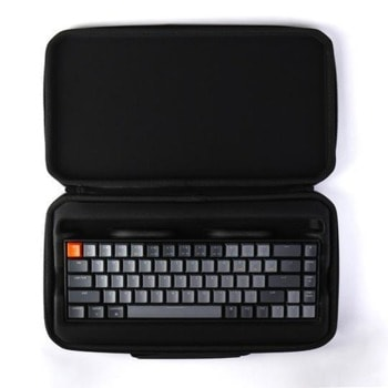 Kалъф за клавиатура Keychon K6 Plastic (K6-SLB), удароустойчив, пластмасов, черен image