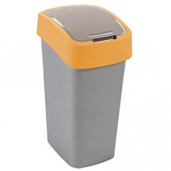 Кошче за отпадъци, с люлеещ капак, жълто image