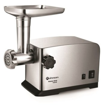 Месомелачка Rohnson R-5403, обратно въртяща функция, метален корпус, приставка за доматен сок / за правене на суджук/луканка/наденица, 1800W, инокс image