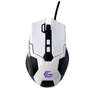 Мишка Gembird MUSG-04, оптична (3200 dpi), USB, бяла image