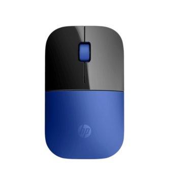 Мишка HP Z3700, оптична (1200 dpi), безжична, USB, синя image