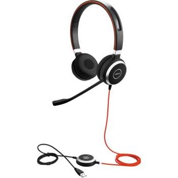 Слушалки Jabra Evolve 40, микрофон, черни image