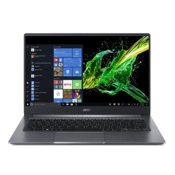 "Лаптоп Acer Swift 3 SF314-57-53NV (NX.HJFEX.003)(сребрист), четириядрен Comet Lake Intel Core i5-10210U 1.6/4.2 GHz, 14.0"" (35.56 cm) Full HD Anti-Glare Display, (HDMI), 8GB DDR4, 256GB SSD, 1x USB Type-C, Windows 10 Home image"