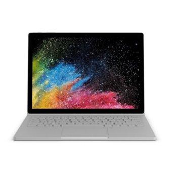 "Хибриден лаптоп Microsoft Surface Book 2 (HNR-00030)(сребрист), четириядрен Kaby Lake R Intel Core i7-8650U 1.9/4.2 GHz, 15.0"" (38.10 cm) 4K/UHD Glare Multi-touch PixelSense Display, (mDP), 16GB, 256GB SSD, 1x USB Type-C, Windows 10 image"