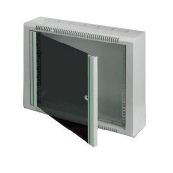 "Комуникационен шкаф Security Professionals MR.WTR06U15.02, 19"", 6U, 600 x 150 x 360, жилищен, slim дизайн, секретна ключалка, 4мм темперирано стъкло, сив image"