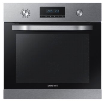 Фурна за вграждане Samsung NV70K3370BS/OL, клас А, 1700W, 70л. обем, 2 вентилатора, 20 програми, керамично покритие, LED дисплей, инокс image