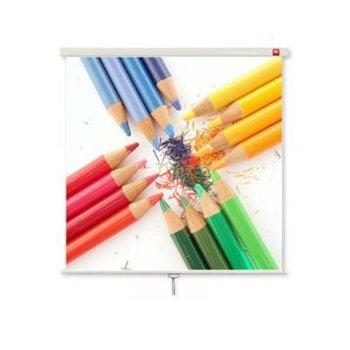 """Екран Avtek Wall Standard 175, ръчен за монтаж на стена или таван, Matt White, 1750 x 1750 мм, 97"""", 1:1 image"""