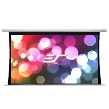 "Екран Elite Screens Saker Tension SKT84XHW-E24, за стена, White, 1859 x 1046 мм, 84"" (213.4 cm), 16:9 image"
