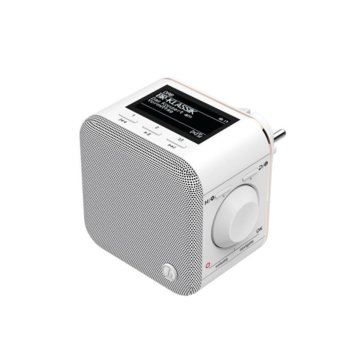 Цифрово радио Hama DR40BT-PlugIn, LCD дисплей, 3W RMS, DAB/DAB+/FM, USB, бяло image