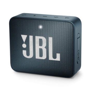 Тонколона JBL GO 2, 1.0, 3W RMS, 3.5mm jack/Bluetooth, тъмно синя, до 5 часа работа, IPX7 image