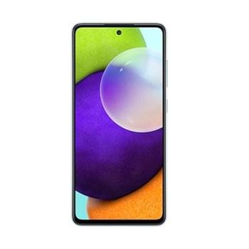 """Смартфон Samsung SM-A525F Galaxy A52 (син), поддържа 2 sim карти, 6.5"""" (16.51 cm) FHD+ Super AMOLED 90Hz дисплей, осемядрен Snapdragon 720G 2.3 GHz, 6GB RAM, 128GB Flash памет (+ microSD слот), 64.0 + 12.0 + 5.0 + 5.0 & 32 MPix камера, Android image"""
