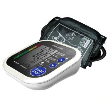 Апарат за кръвно налягане Beurer BC 32, LCD дисплей, измерване по време на напомпването, индикатор за класификация, бял image